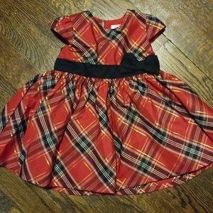 3M Carter's red tartan dress